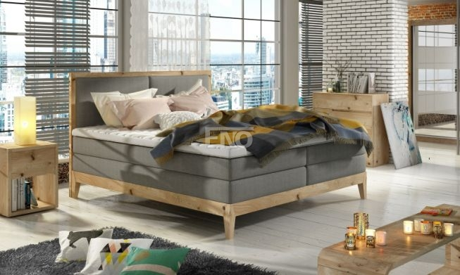 Boxspring Ida massiv wood + topper